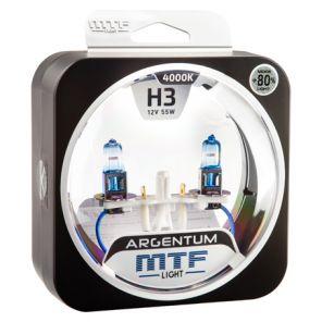 Лампа галогенная H3 Argentum +80%