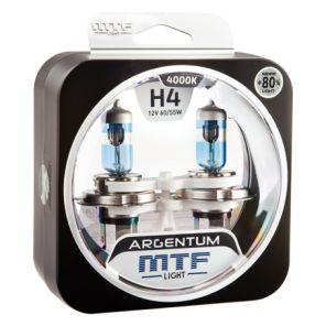Лампа галогенная H4 Argentum +80%